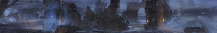 Ruinen im Nebel